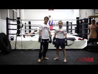 Нокаутирующая комбинация из двух ударов от чемпиона мира по боксу Дмитрия Кириллова и 4MMA