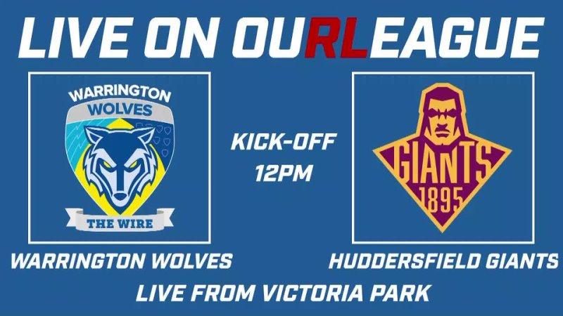 Кубок Вызова Warrington Wolves Huddersfield Giants 25 04 2021