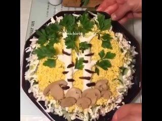 """Красивый салатик """"Березка"""""""
