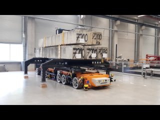 Роботизированная AGV-платформа KUKA перевозит грузы более 40 тонн