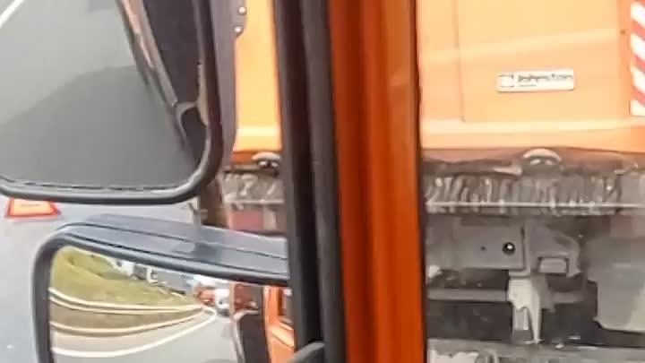 Дневная авария на Волхонском шоссе в поселке Александровская в сторону Киевского шоссе.