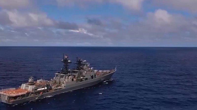 Учение разнородных сил ТОФ в центральной части Тихого океана