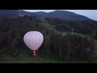Видео от Аэрогеш. Воздушный шар в Шерегеше