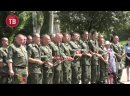 Траурный митинг, посвящённый седьмой годовщине начала обстрела Шахтёрска.