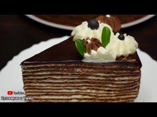 Вкуснейший Шоколадный МЕДОВИК! Торт _СПАРТАК_ _ Домашний Торт Рецепт _ Кулинарим с Таней (720p)