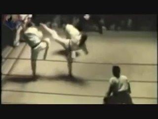 "Чак Норрис и Aллен Стин  ""Long Beach Internationals"" Финал. 1966 год."