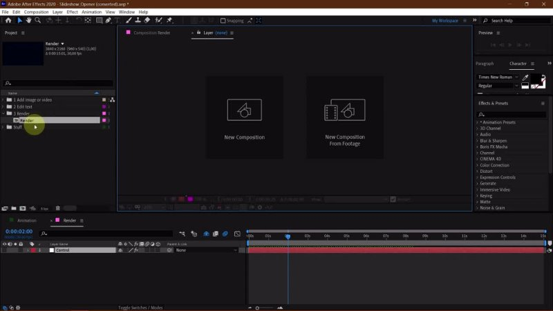 After Effects рендер афтер эффектс