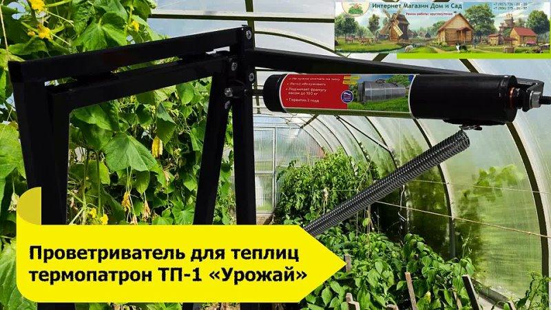 Автоматический проветриватель для теплицы Урожай ТП 01 Термопатрон до 100 кг