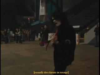 Gerard way makeing karate