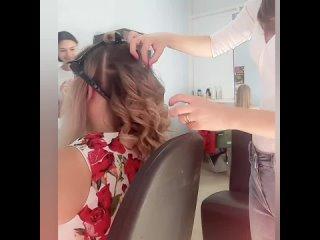 процесс создания причёсок