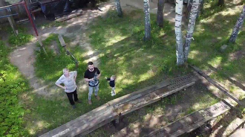 Первый полет на дроне Ржев Памятник солдату