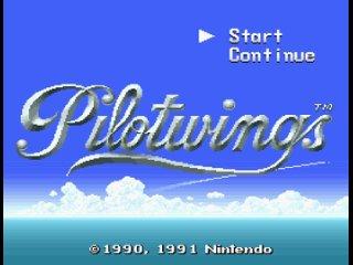 Pilotwings (SNES, 1991) – заставка и демонстрация