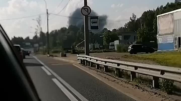 Что-то горит на Выборгском шоссе