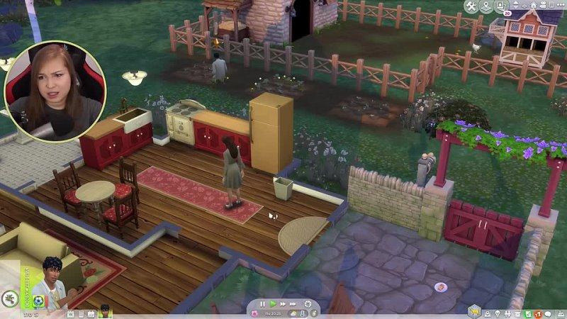 AlisanRose ВСТРЕЧА С ДИКИМИ ЛИСАМИ Прохождение The Sims 4 Загородная жизнь №2
