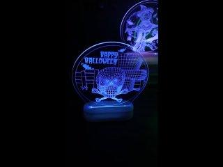 Хэллоуин Тыква страшный череп 3D светодиодные ночники