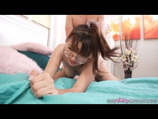 Honey Hayes [Shy Step-Daughters Indecent Proposal] All Sex, Blowjob, Cumshot, Girl in Glasses, Step Fantasy, Anal, Deep Throat