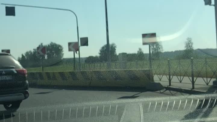 В городе Колпино на Рубежном шоссе Очередной спидигонщик шёл к успеху… не фортануло!