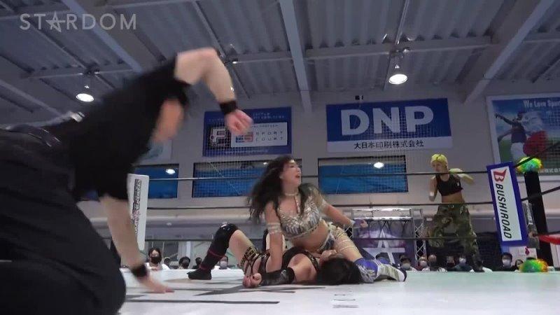 Stardom 07 21 2021 2 3 Falls Tag Match QQ Utami Hayashishita Saya Kamitani Momo Watanabe vs DDM Giulia Syuri Maika