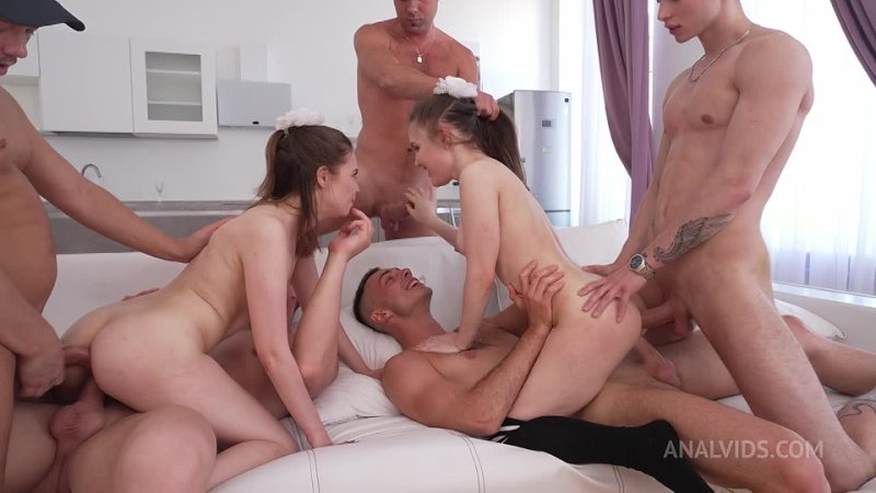 Legal Porno Anal Vids Crazy little cheerleaders Bella Grey and Baby Bamby get fucked hard in gangbang DPPDVP