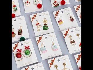 Рождественские серьги в виде снеговика для женщин, серьги в