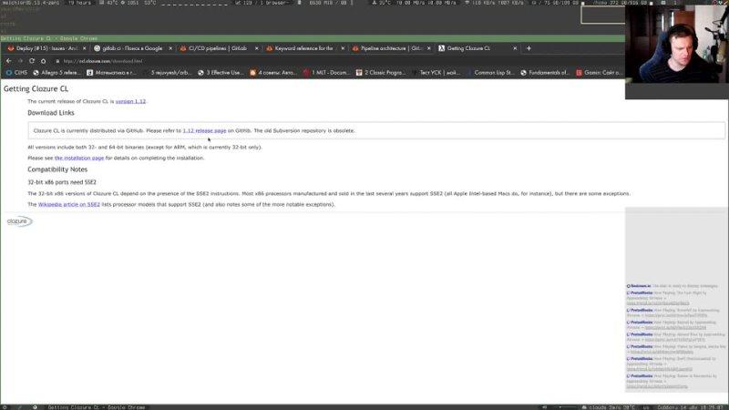 EN RU Making Diablo clone in LISP S02E04 Improving CI