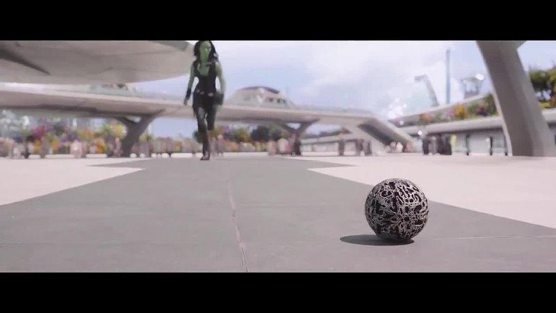 Ракета и Грут ловят Звездного Лорда Фрагмент из фильма Стражи галактики