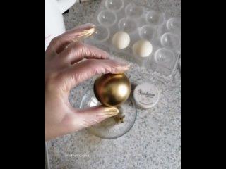 Идеальные золотые шары из шоколада. / Наша группа во ВКонтакте: ULTRACAKES.