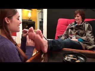 american girl licking mature women soles )