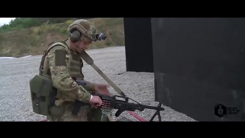 Сумасшедшая Тренировка Спецназа с Пулеметом