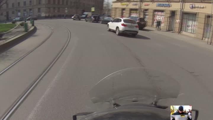 ДТП заниженной приоры со скутером на Перекопской д. 3. Кто виноват?