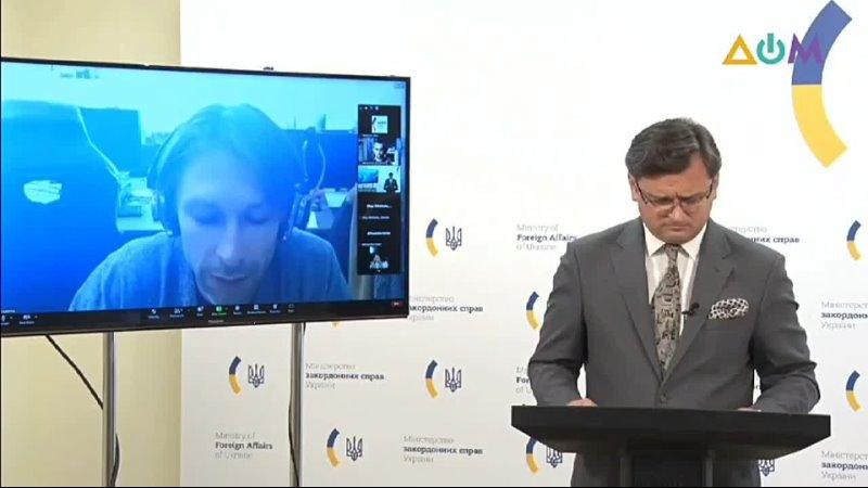 Кулеба о позиции Украины по Северному потоку 2 Министр иностранных дел Дмитрий Кулеба отвечая на вопрос журналиста телекан