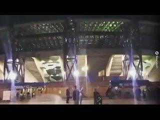Гимн Лиги чемпионов + болельщики Наполи