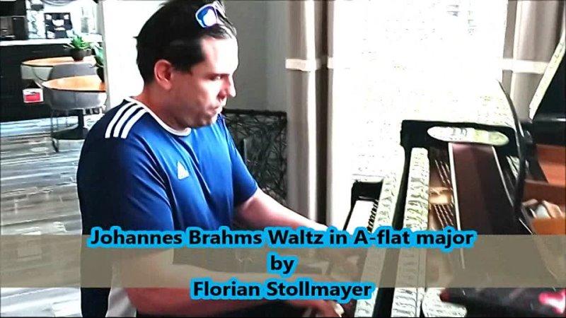 Johannes Brahms Waltz in A flat major op 39 no 15 EXCERPT July 29 2021 by Florian Stollmayer Piano