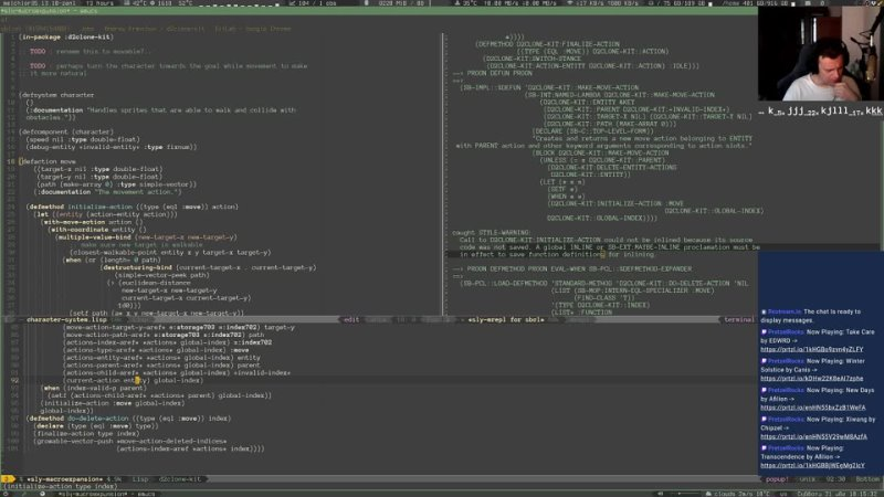 EN RU Making Diablo clone in LISP S02E05 Code quality