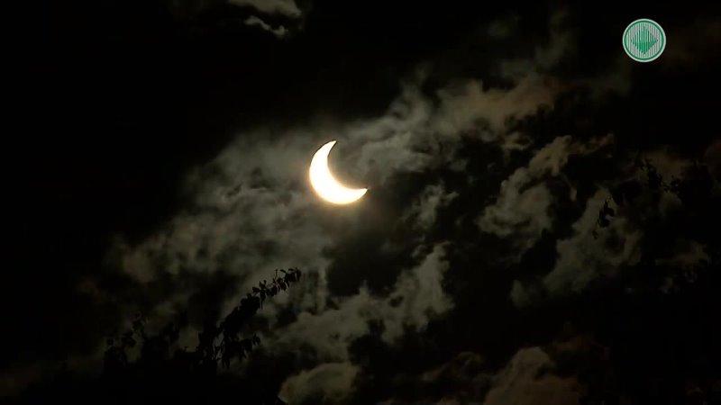 Солнечное затмение в Мирном