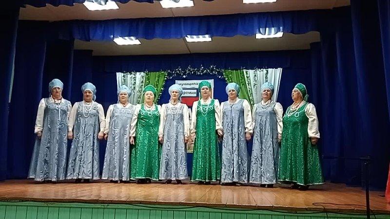 Коллектив Рябинушка с песней на церемонии Стремление 2021 в Сурском ДК