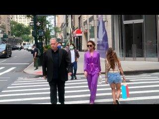 Кейт Бекинсейл на улицах Нью-Йорка,