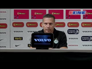 Тренер Барак Бахар и капитан Нета Леви на пресс - конференции перед игрой с «Кайратом»
