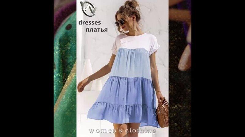 Витрина женской одежды Showcase of women's clothing