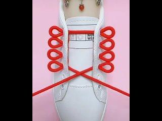 Вариант классной шнуровки кроссовок