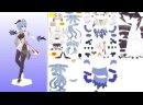 Инструкция по сборке фигурки Гань Юи из бумаги