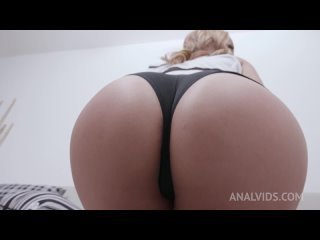 Larissa Leite (Busty slut Larissa assfucked by 4 huge cocks with DP, DAP and DVP YE114) [2021, Curvy, Double Anal/Vaginal, 720p]
