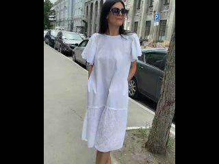 Белые платья летом, это особая магия 🤍Это про женственность, про нежность, про красоту 💯 ⠀Новая модель хлопкового платья с