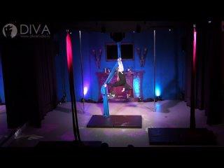 Танцы на полотнах (цирковые полотна), ученица студии Диана, хореограф Нина Зенкина