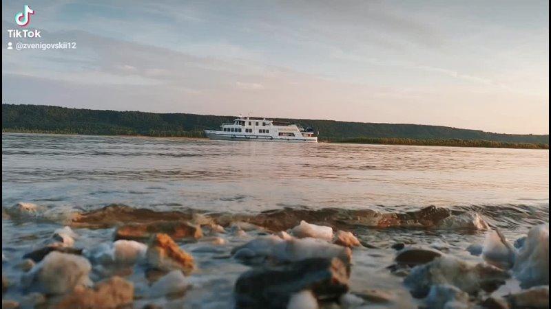 Река Волга⛴️ марийэл волга река красота пейзаж судно корабль природа