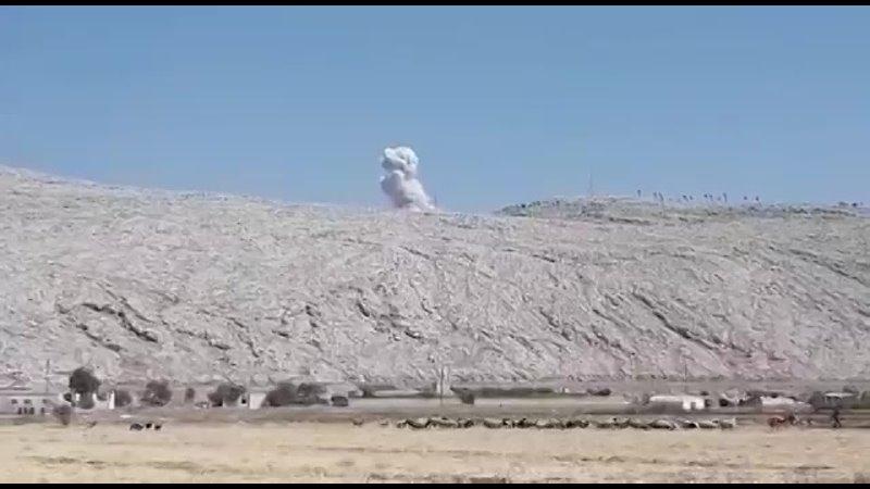 ВКС России нанесли авиаудар по объекту боевиков в районе н п Айн Шеб сирийской провинции Идлиб