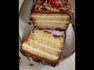 """Кекс-торт с малиной. 2 ч. / Наша группа во ВКонтакте: """"ТОРТ-РЕЦЕПТ-VК""""."""