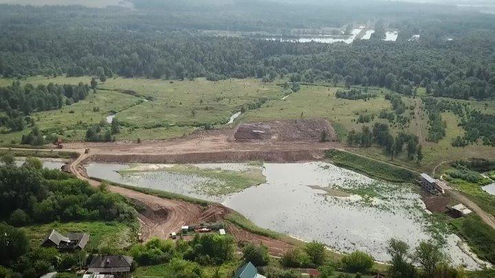 Возле села Вавож чистят реку УваЗа последнюю