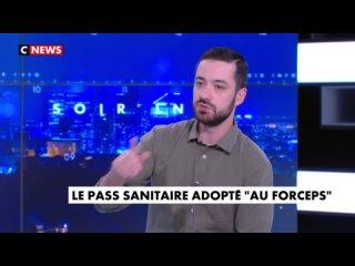 David Guiraud sur le plateau de CNews