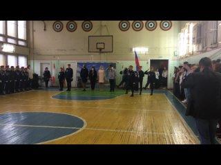 Школа № 1 - Вынос флага ()